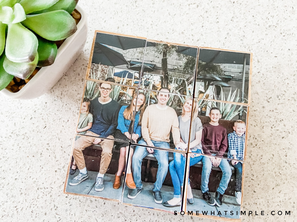 how to make a wood photo block puzzle