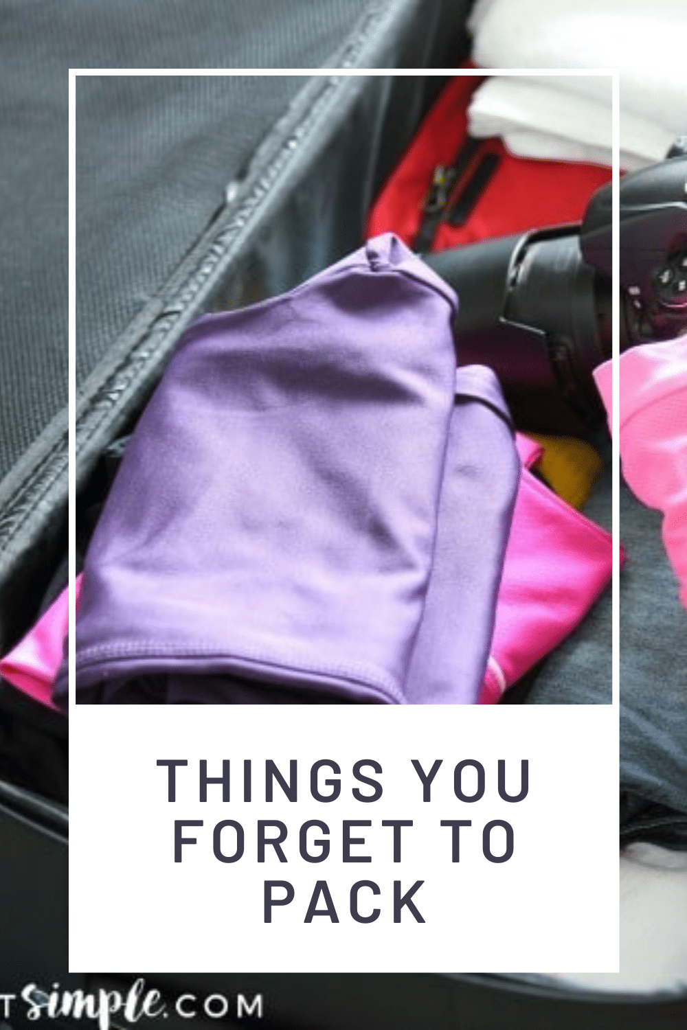 Don't you hat going on vacation only to realize you forgot something? With this list of ideas, you'll never have that problem again. From trash bags to duct tape, a power strip and more! Here is a list of things to pack in your suitcase that could save you some time and sanity on your next vacation! Now you can rest assured that you'll have everything you'll need for your next vacation. via @somewhatsimple