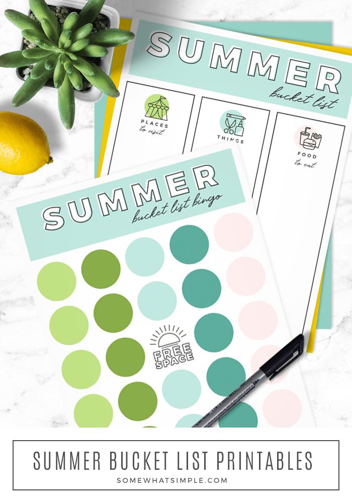 The ultimate summer bucket list with over 100 summer activities for teens, kids, and families. Grab our free bucket list printables and get ready to have the best summer ever! #summerbucketlist #summerbucketlistideas #summerbucketlistforkids #summerbucketlistfreeprintable #familysummerbucketlist via @somewhatsimple