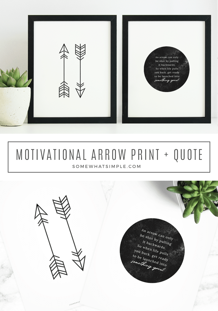 image about Arrow Printable named Inspirational Arrow Quotation + Free of charge Printable - in opposition to Relatively