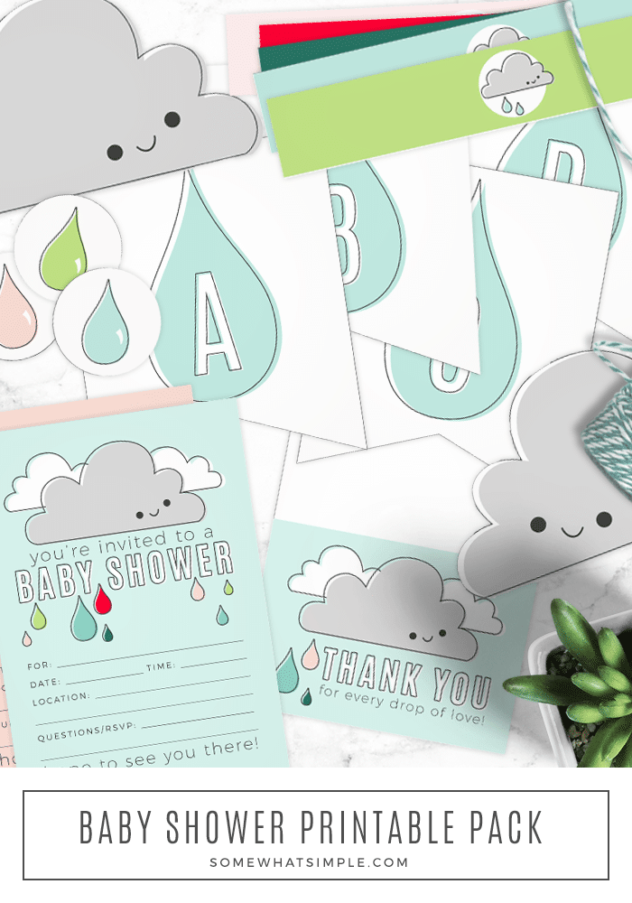 Throwing the perfect baby shower just got EASY! From invites to thank you cards and simple decor, these baby shower printables are everything you need to host the ultimate baby shower! #babyshowerprintables #babyshowerthankyoucardprintable #babyshowerinvitationprintable #babyshowergirlprintable #babyshowerboyprintable via @somewhatsimple