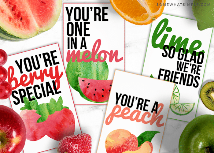 friendship gift tags with fruit puns