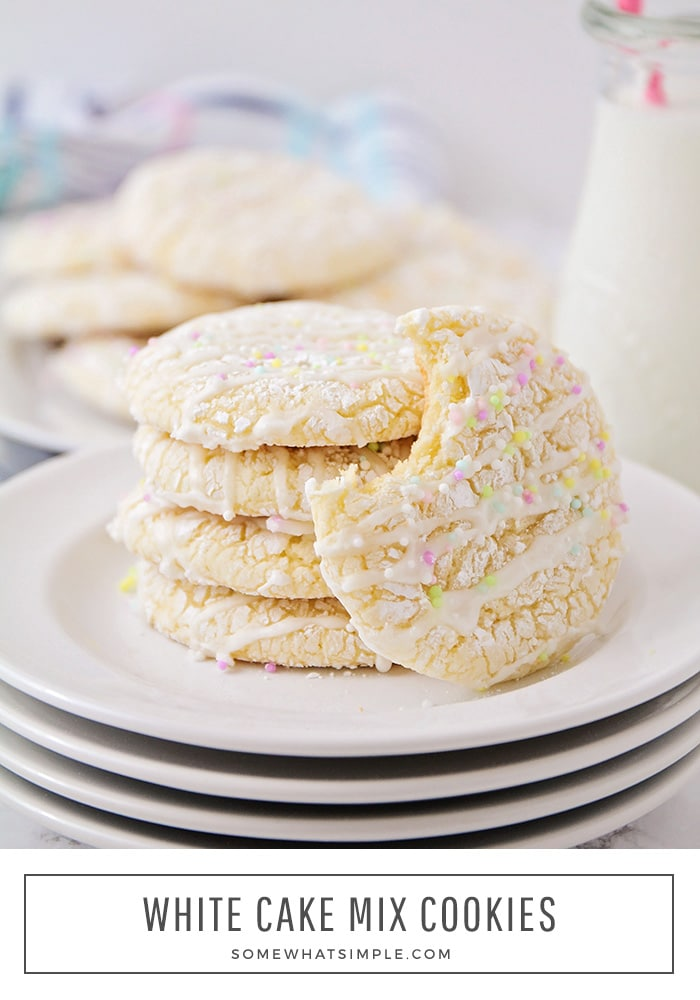 These elegant and delicious white cake mix cookies are made with just a handful of ingredients, and are perfect for any special occasion!