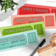 FREE Chore Punch Card Printables are a great way to get the kids motivated and excited to help out around the house!