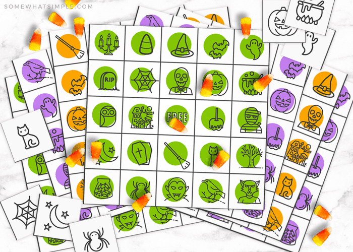 picture regarding Free Halloween Bingo Printable named Halloween Bingo Playing cards (Totally free Printable) - against Rather Easy