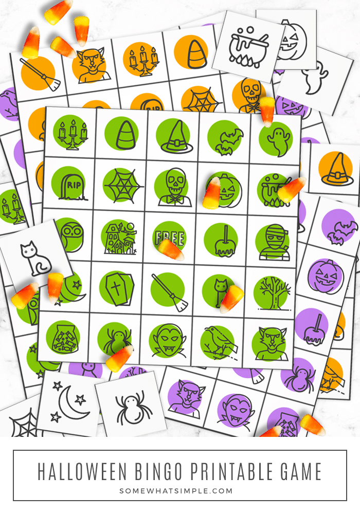 graphic regarding Free Halloween Bingo Printable identify Halloween Bingo Playing cards (No cost Printable) - in opposition to Considerably Very simple