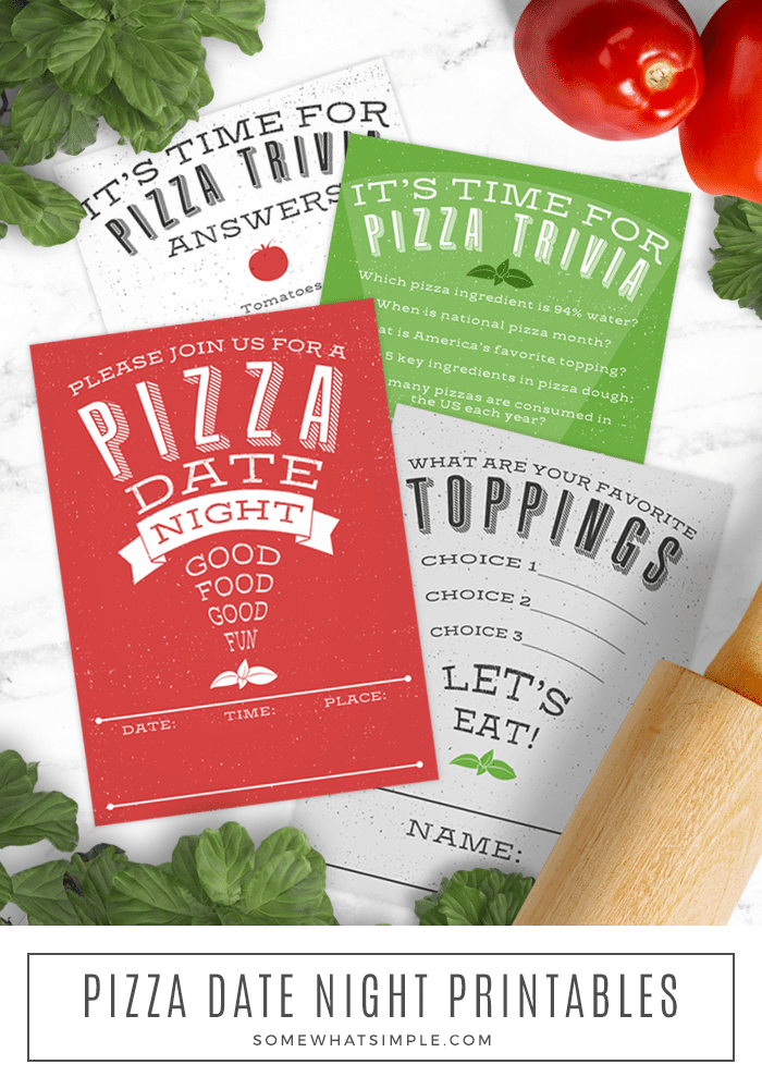 DATE IDEA - Keep this Pizza Date Night simple and low-key, share the evening with friends, or opt for a night in with just the two of you! via @somewhatsimple