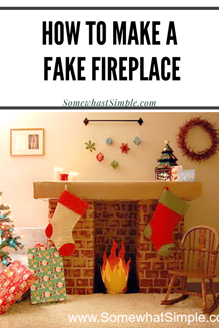 This cardboard faux fireplaceis an easy solution for hanging stockings when you don't have one of your own. With easy step by step instructions, this DIY cardboard fireplace is super easy to make. This is perfect for the Christmas holiday season to prepare for Santa's visit. via @somewhatsimple