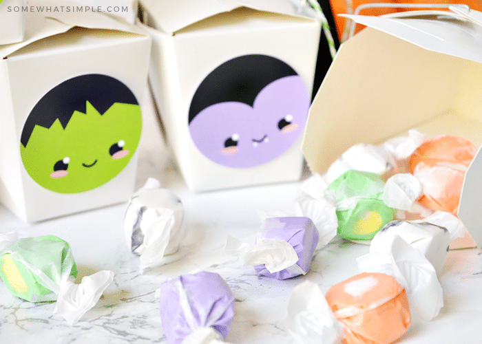 halloween gift boxes filled with candy