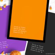 orange, purple and black versions of this halloween printable