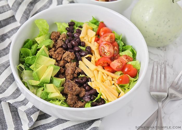 a bowl of taco salad