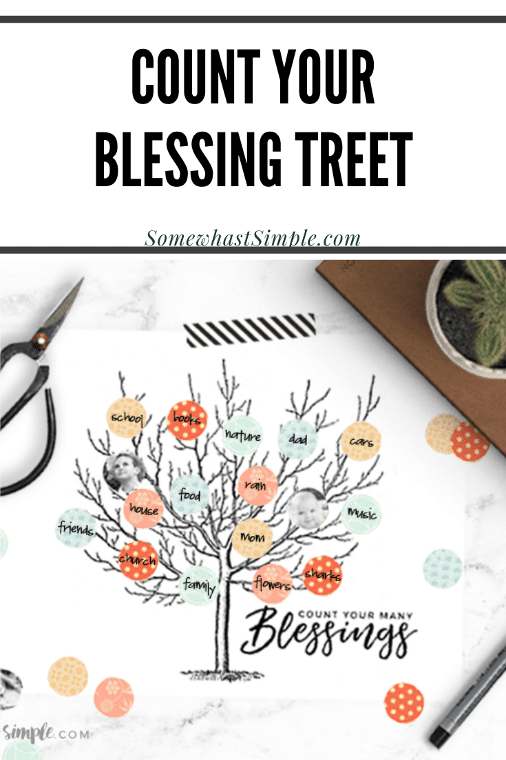 This fantastic Count Your Blessings Tree idea printable is the perfect way to display all the things you're grateful for! This fun craft makes a great Thanksgiving activity for the whole family, and is a wonderful daily reminder to not take for granted the little blessings in life. via @somewhatsimple
