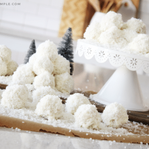 coconut cake pops that look like snowballs