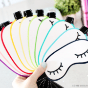 how to make sleep mask party invitations