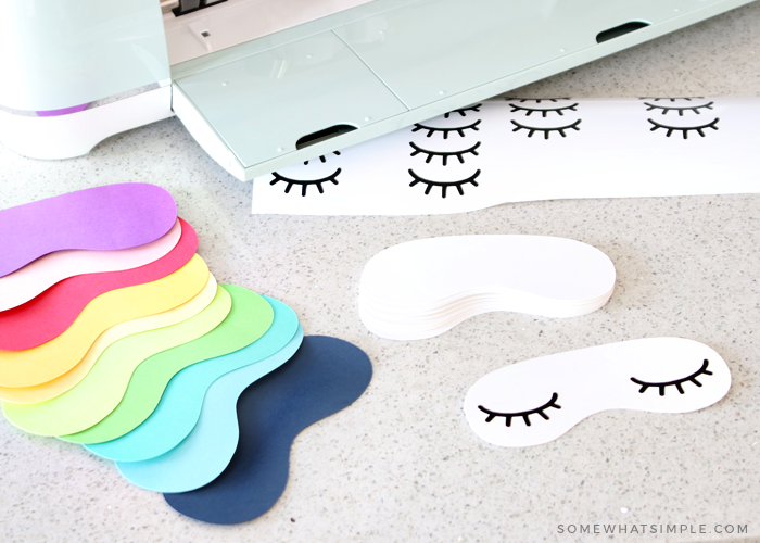 how to make eye mask party invitations with a Cricut explorer air 2