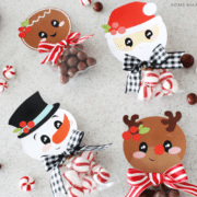Christmas treat bags with 4 different bag toppers
