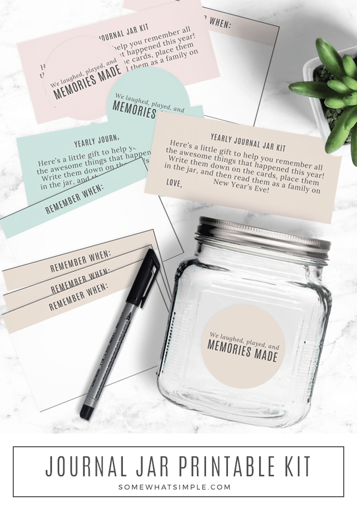 Family Journal Jar Printables From Somewhat Simple