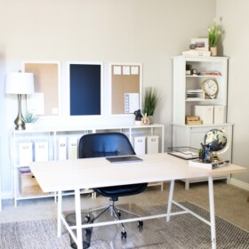 simple home office decor refresh