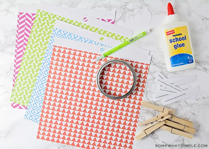 supplies needed for a paper craft project