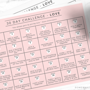 a 30 day love challenge printable