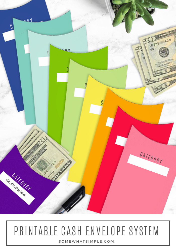 Printable budget envelopes can help you manage your money and curb your habit to overspend. It's time to be more intentional with paying bills, saving money, and living debt-free! This is an easy and effective way to help you keep track of your expenses.  #budgetenvelopes #diybudgetenvelopes #budgetenvelopesfreeprintable #budgetenvelopessystem #budgetenvbelopestemplate via @somewhatsimple