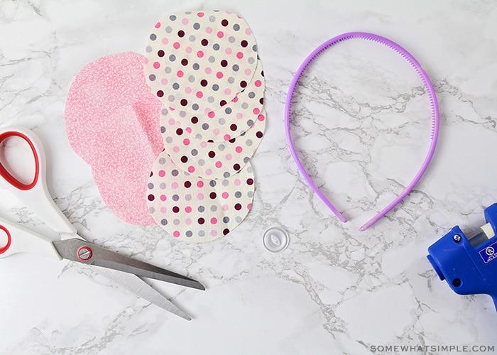 fabric cut into circles