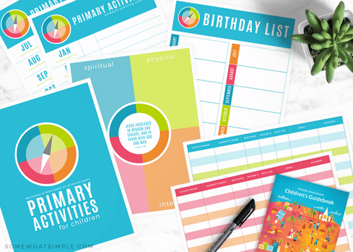 printable sheets for lds primary activities
