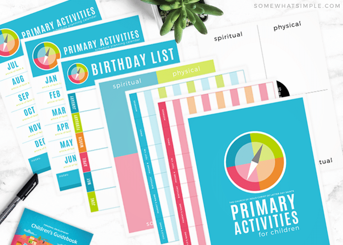 printable brithday and other sheets for lds primary activities