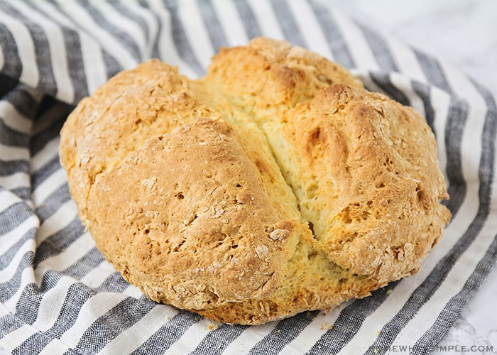a baked loaf of Irish soda bread