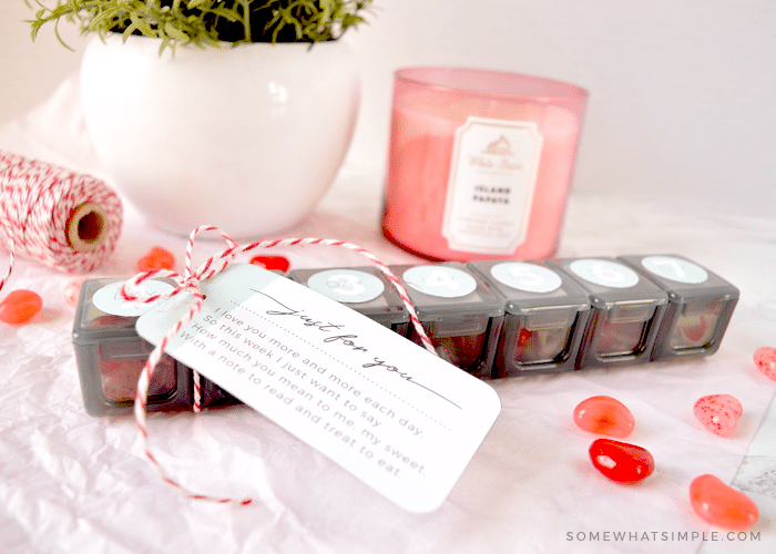 a valentine's day gift with a printable tag
