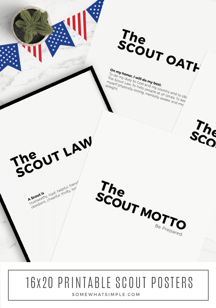 Our minimalist Boy Scout Oath Printables will make the perfect accessory to your next court of honor or pack meeting! #boyscouts #printable #courtofhonor #cubscouts #scout via @somewhatsimple