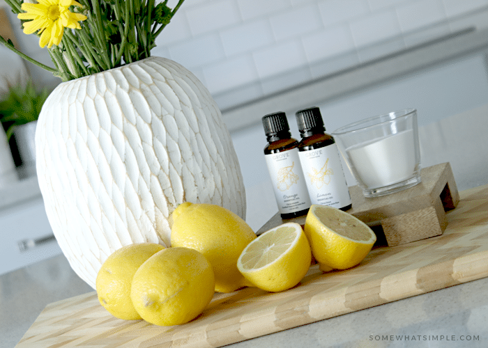 Lemons, flowers and essential oils make your house smell great