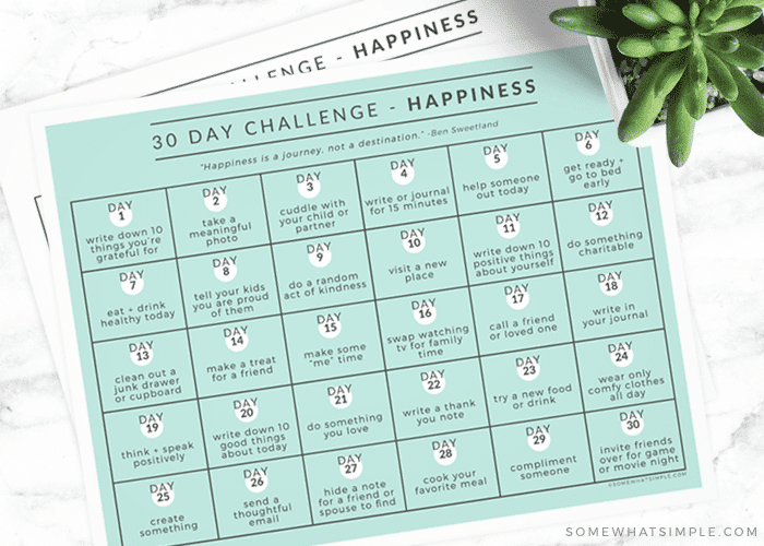 how to be happy - happiness calendar