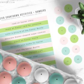 a printable easter advent calendar
