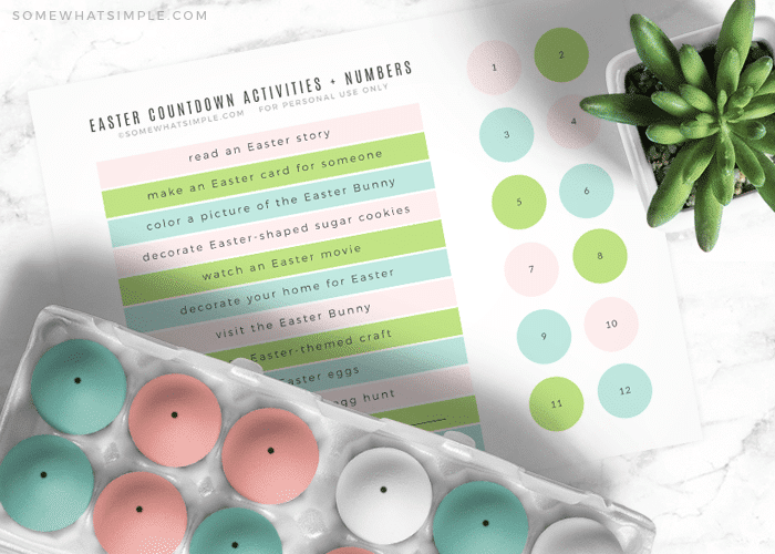 a pastel colored easter countdown calendar