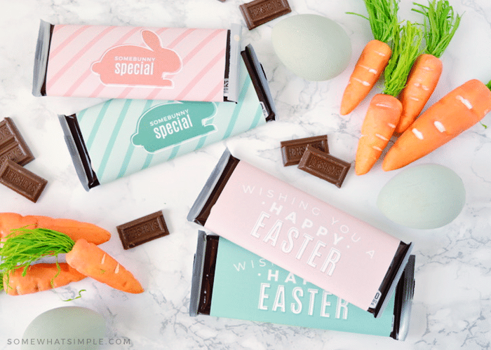 candy bars with an easter wrapper on it