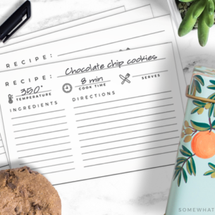 download and print these minimalist recipe cards