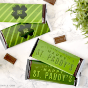 st. patrick's candy bar printable