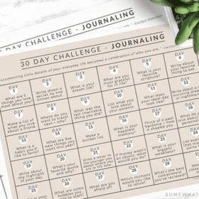 30 day journal challenge