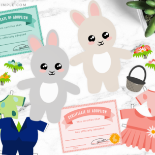 Easter Bunny Printable Paper Dolls