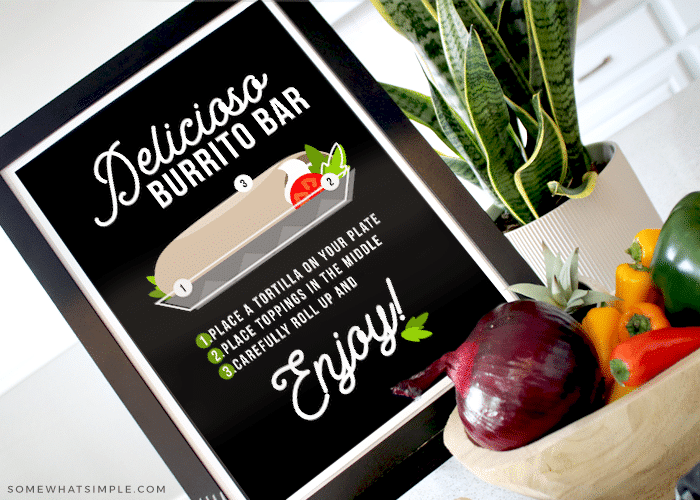 a burrito bar printable sign