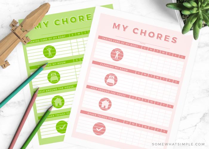 printable chore list for kids