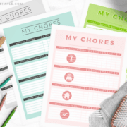 printable colored chore charts for kids