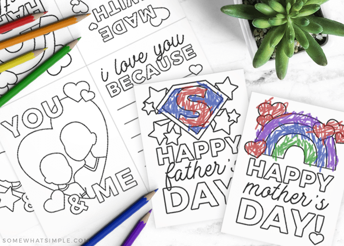 mothers day cards you can color