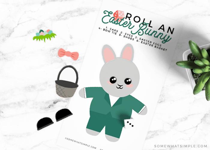 an easter bunny printable game