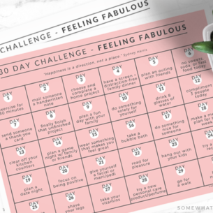 feeling fabulous 30 day challenge calendar printable