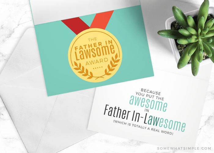 A Free Card for you father-in-law