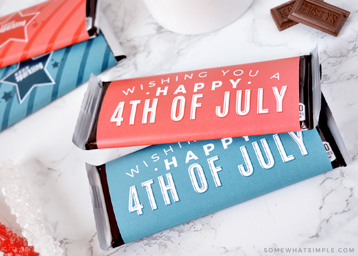candy bars with july 4th wrappers