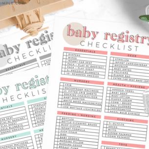 free printable baby registry checklist