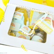 box with yellow gift ides